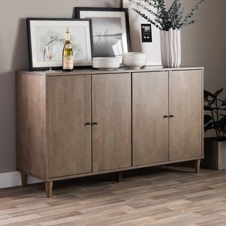 Shop For Vilas Light Charcoal Grey Buffet Get Free Delivery At Overstock