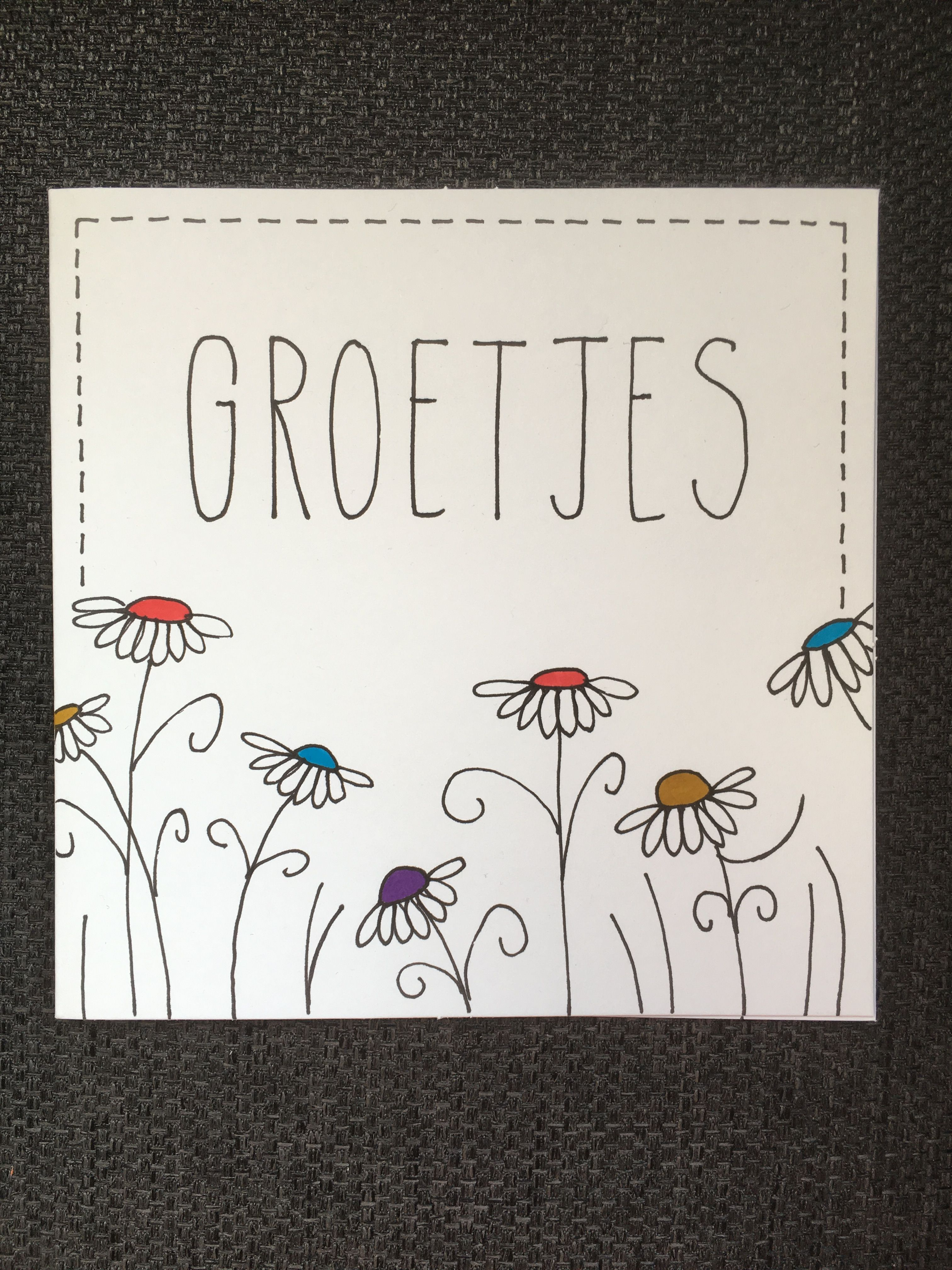 Diy Kaart Groetjes Kaart Maken Liefde Zelf Kaarten Maken Verjaardag Kaarten Maken Handletteren