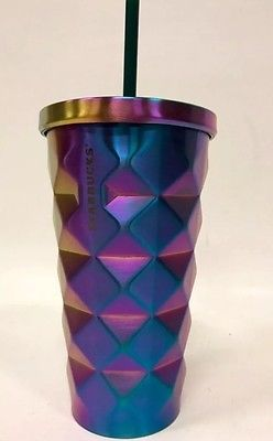 a9305a1ae21 Starbucks Iridescent Rainbow Studded Stainless Steel Cold Cup / Tumbler