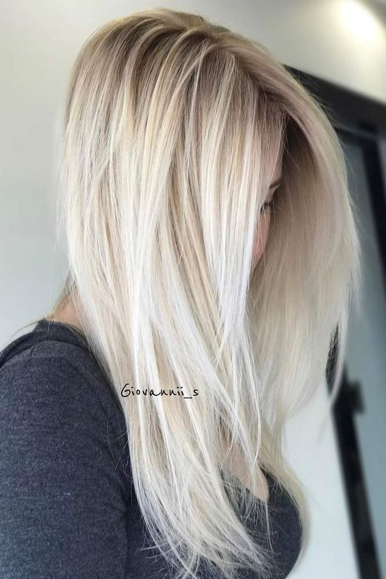 Ideas to go blonde - long icy balayage