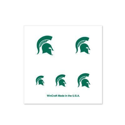 Michigan State Spartans Official Fingernail Tattoos by NCAA. $6.94. Officially licensed by the Michigan State Spartans. Officially licensed by the NCAA. Top Quality, Manufactured by Wincraft. You get four sheets of five fingernail-sized tattoos. Enough to cover TWENTY fingernailsSizes vary for differing size nails. Easy to apply. Takes only about 30 seconds. Easy to remove using rubbing alcohol or baby oil. Vibrant colors and crisp graphics. Official team logo...