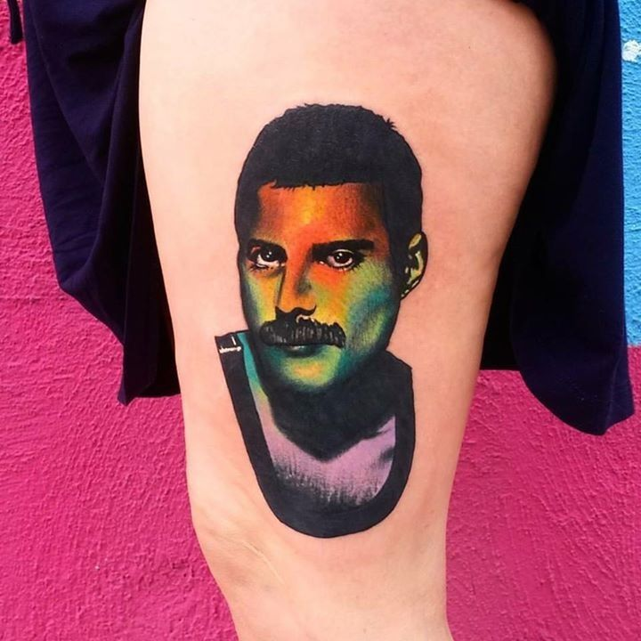 Portrait tattoo by tang from the painted lady tattoo