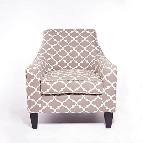 New Seconds Richmond Grey Print Club Tub Accent Chair Amazon Co
