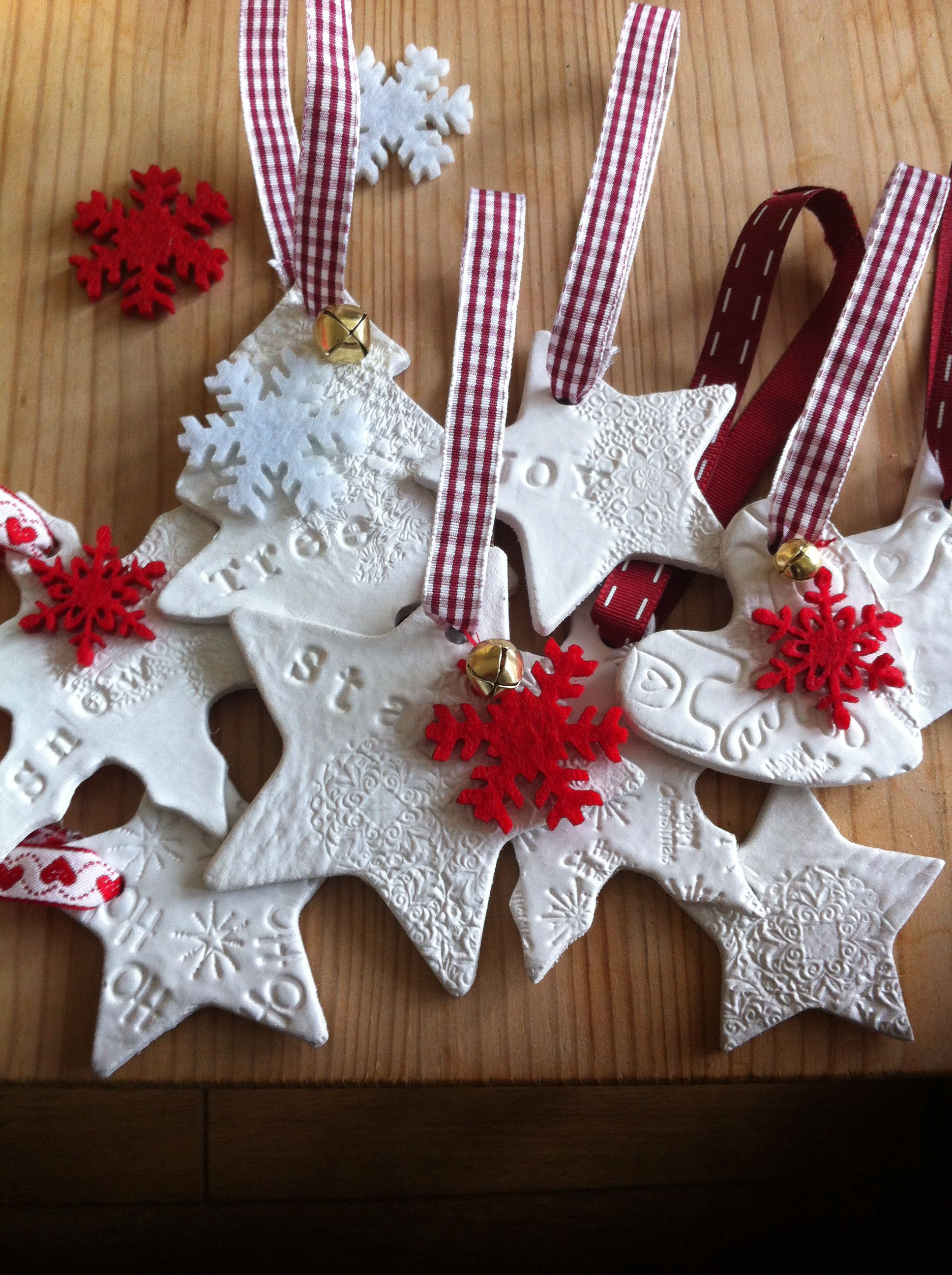 Air drying clay Christmas decoration handmade | gifts | Pinterest ...