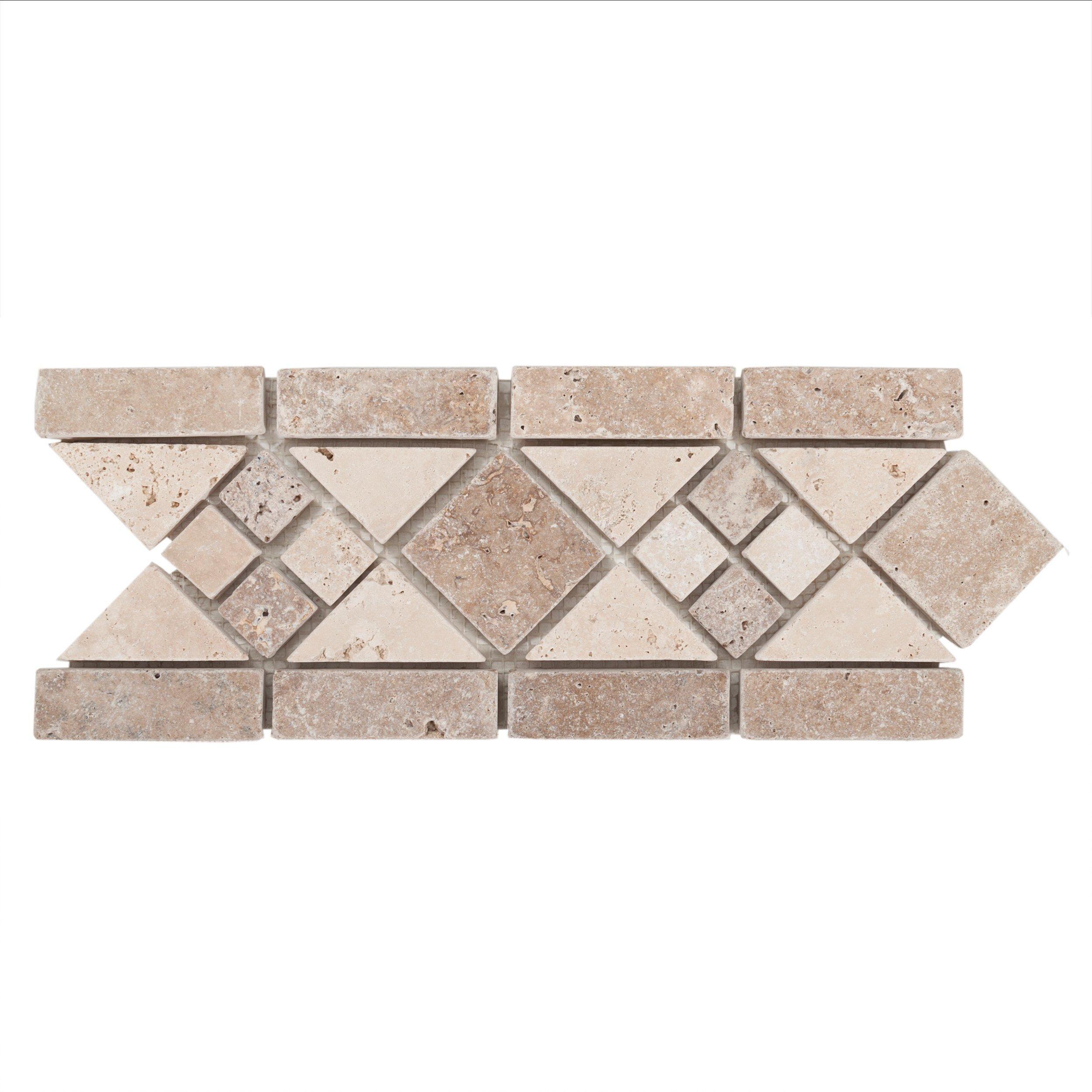 Norna Decorative Travertine Border Floor Decor In 2020 Floor Decor Travertine Mosaic Tile Backsplash Bathroom