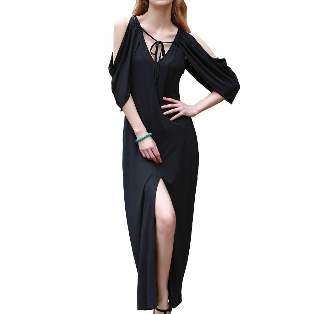 Summer floorlength dresses women pin up cape cloak style cold