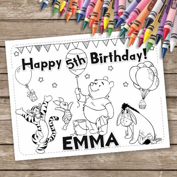 Pin by Sammera Ammar on Party's   Birthday coloring pages ...