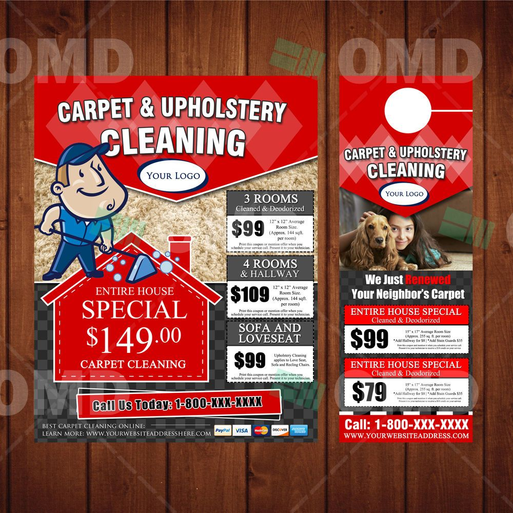 Carpet Cleaning Marketing Bundle - WE PRINT & SHIP 2 YOU - Flyers ...