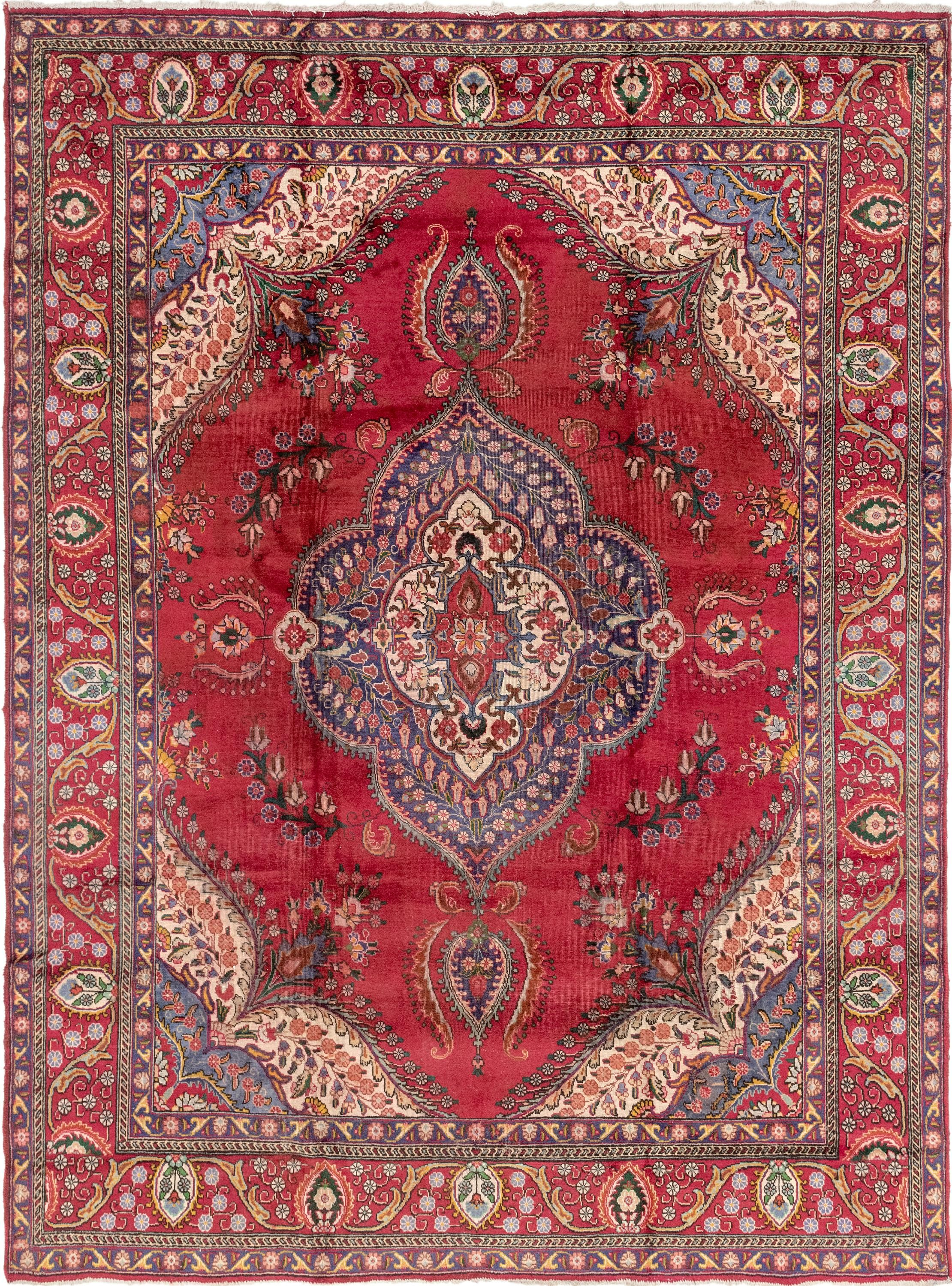Red 9 7 X 13 3 Tabriz Persian Rug Affiliate Red Tabriz Rug Persian Sponsored Persian Rug Antique Persian Rug Rugs