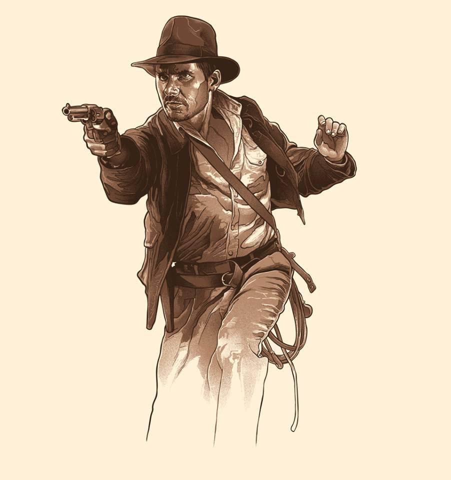 Indiana Jones Logo On Parchment