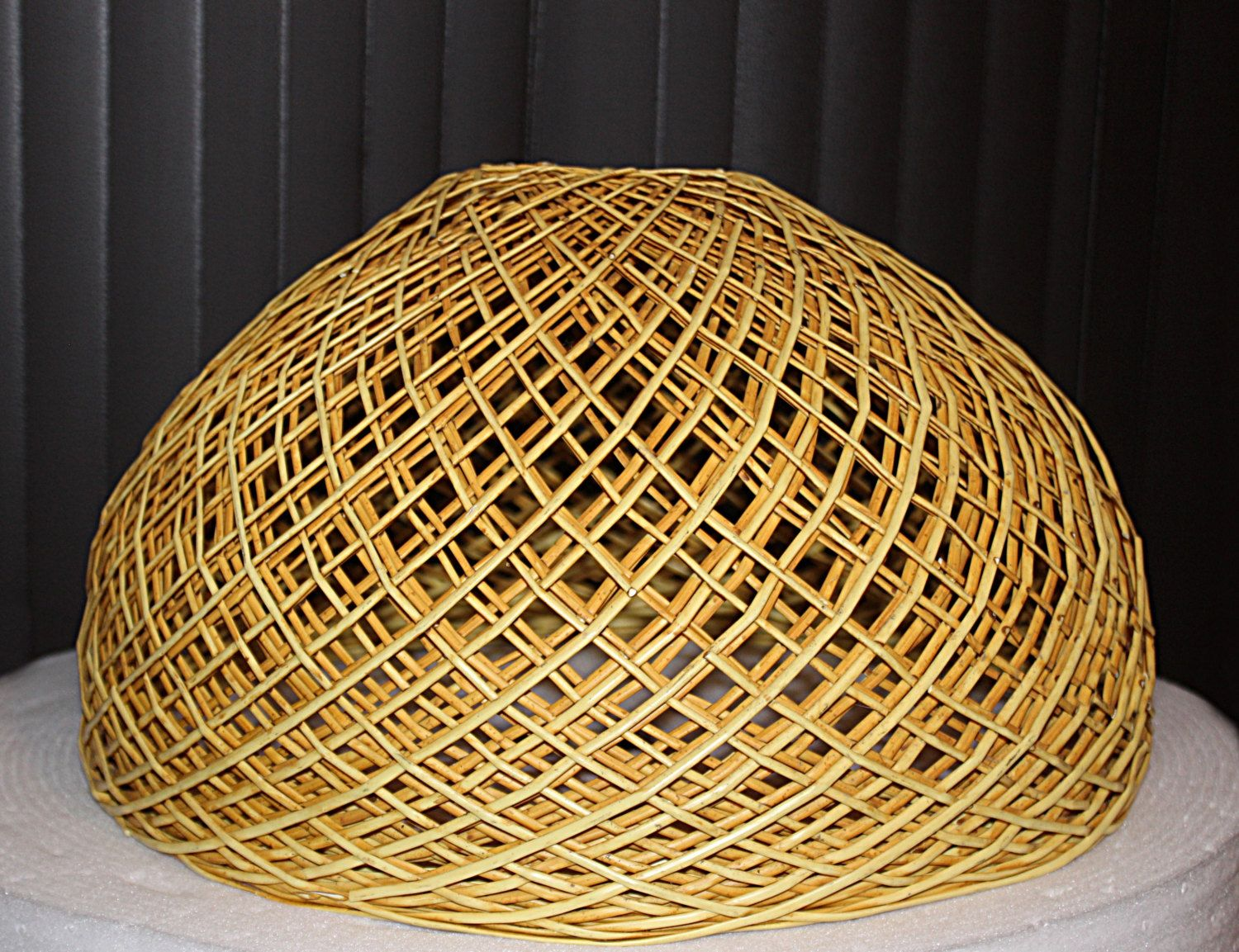 Vintage Woven Rattan Wicker Lamp Shade Gorgeous Light Shade Use
