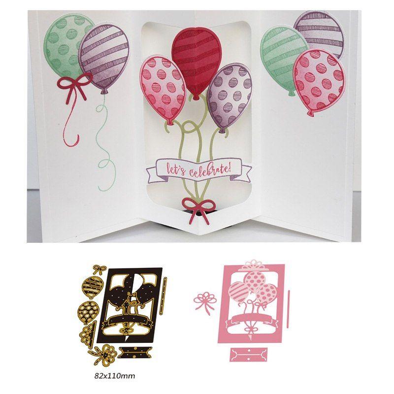 Balloons Metal Cutting Dies Stencil for DIY Scrapbooking Album Cards Decor Nice