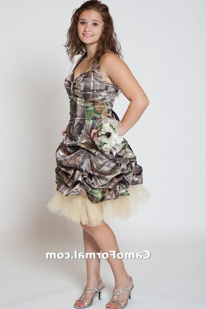 Cheap Ball Gown Plus Size Short Camo Wedding Dresses Ball ...