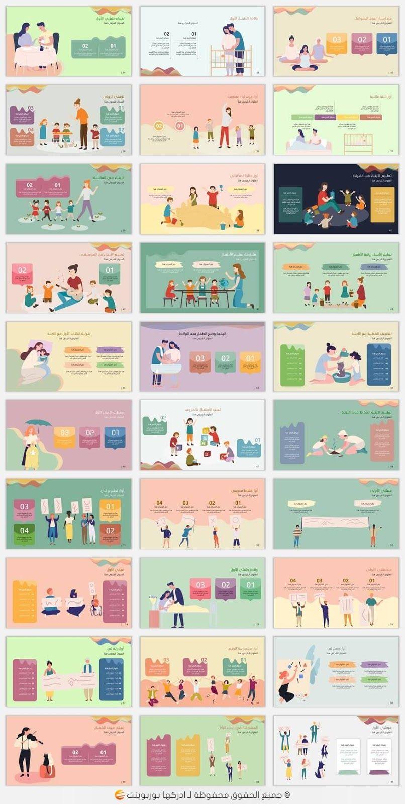 عرض بوربوينت عن الحياة الاسرية وتربية الأبناء ادركها بوربوينت Poster Design Pastel Iphone Wallpaper Fruit Art Drawings