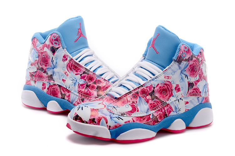 blue jordans shoes for girls