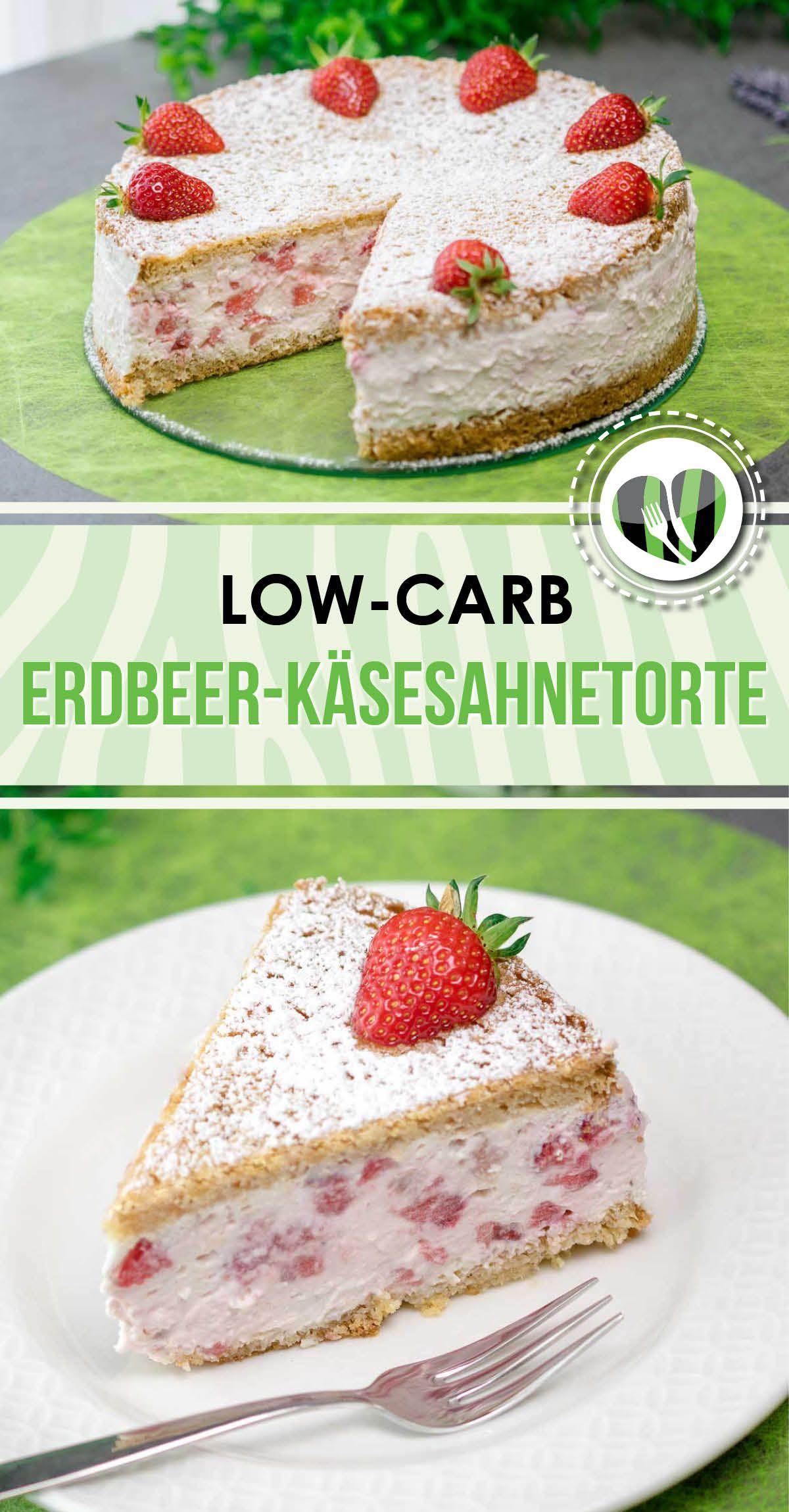 Erdbeer-Käsesahnetorte #lowcarbyum