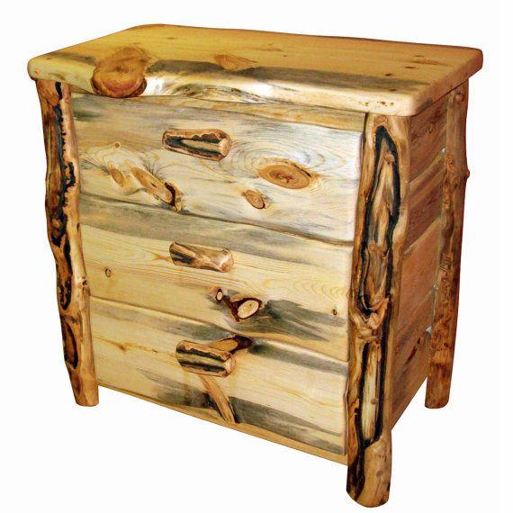 Ecofriendly Wood Dresser 3 Drawer Made From By Naturallyaspen 795 00 Wood Dresser Log Furniture Wood