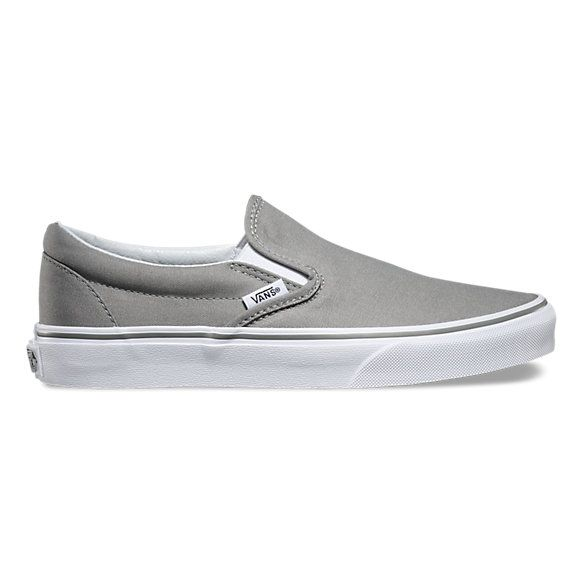 12ae5949 Brushed Twill Slip-On | Shop | Shoes | Shoes, Grey slip on vans ...