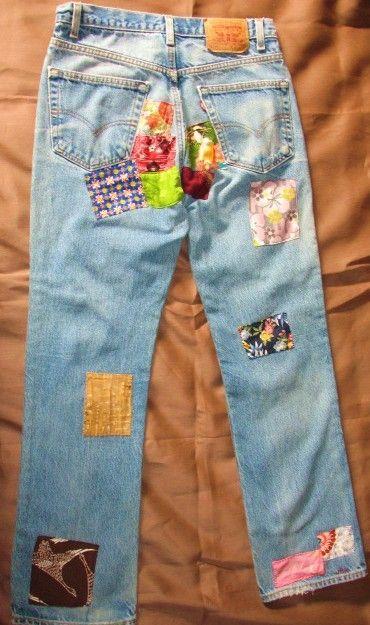 Kimono parcheado jeans por nameoftherose en Etsy