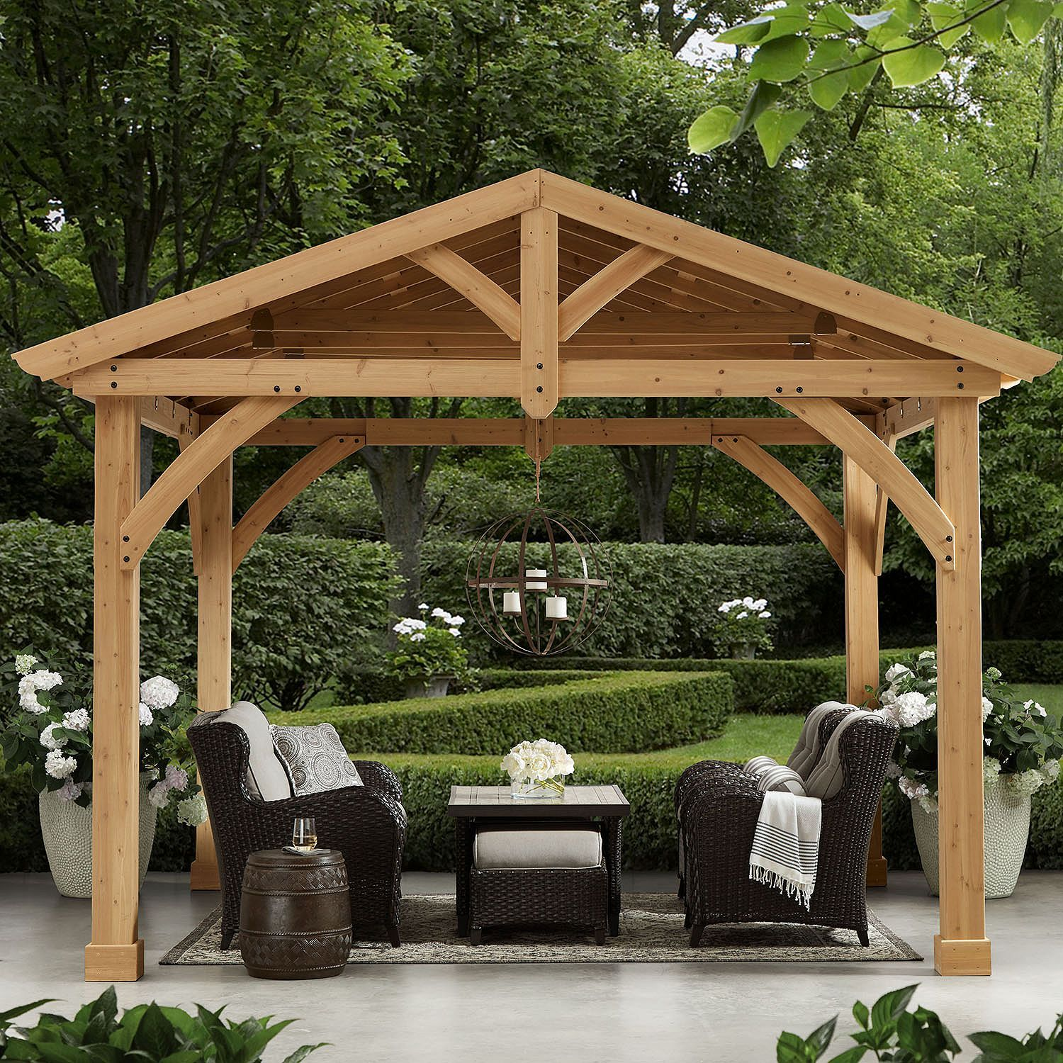 Love This Outdoor Cedar Structure From Sam S Club It Would Fit