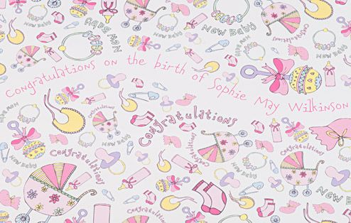 Girl Wrapping Paper