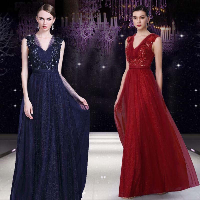 Celebrity Dresses 2017 Sexy Applique V Neck Sleeveless Half Backless ...