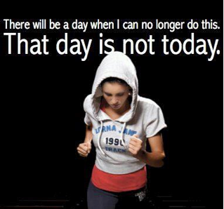 My running group's mantra!  If you've ever trained for a marathon, this quote is applicable!