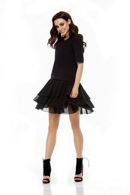 Kleid mit kurzen Ärmeln | Kleidchen, Frauen outfits und ...