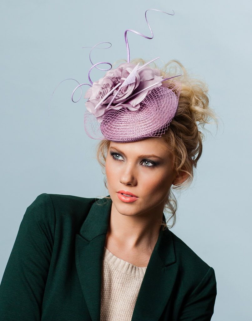 Lilac Purple Straw Fascinator. hat  325.00 2b83621d2cb