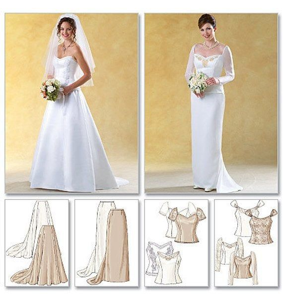 Butterick Sewing Pattern 4131 Misses/' Bridal Style Fitted Top /& Skirt