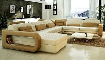 U Shape Sectional Sofa Cl S8592 Modern Sectional Sofas Leather