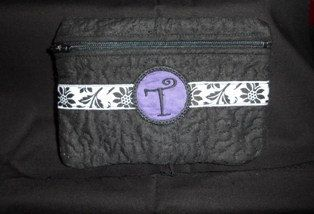 Beautiful monogrammed quilted bag  made to by TheQuiltHandler, $12.00