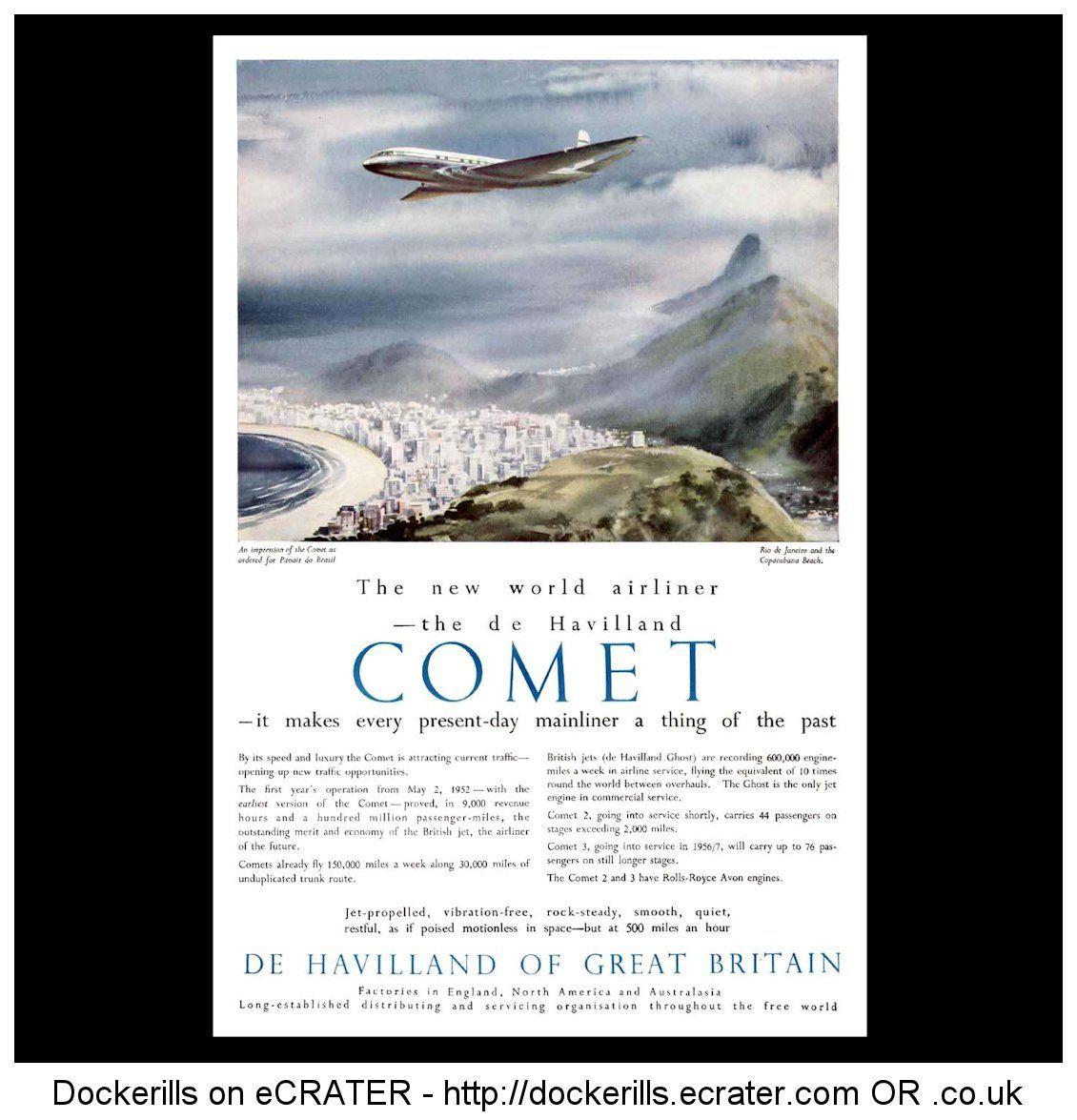 De Havilland Comet Advert  From the Sphere Magazine