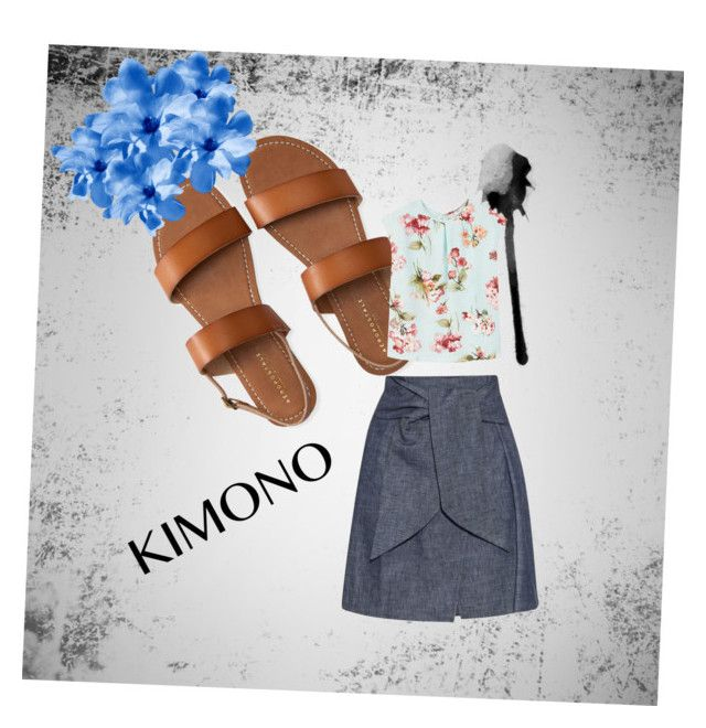 """""""Untitled #5"""" by astridmarieestevez ❤ liked on Polyvore featuring Aéropostale, MANGO, MSGM and kimonos"""