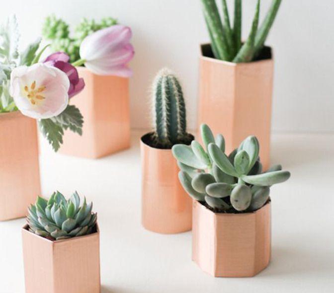 Mini kleine plantenpotjes (zelf maken)