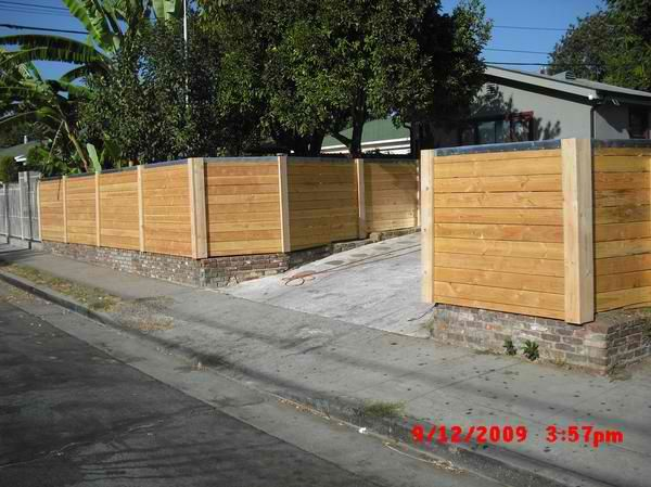 Custom 2x6 Douglas Fir Modern Horizontal Fence With Galvanized Cap Wrap 1 Atwater Village Los Angeles 90039 Wood Fence Wood Fence Design Horizontal Fence