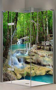 Rueckwand Dusche Alu Duschrueckwand Fliesenspiegel Fliesen Wasserfall Motive