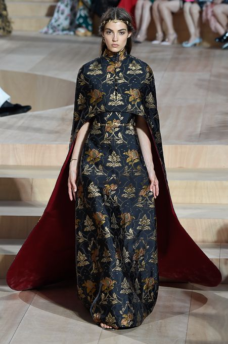 "vogue-is-viral: "" Camille Hurel for Valentino Fall/Winter 2015 Couture """