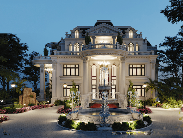 Design 4 Storey Villa Beautiful Neoclassical Architecture 4storey Architecture Beautiful House Plans Mansion Classic House Exterior Architectural House Plans