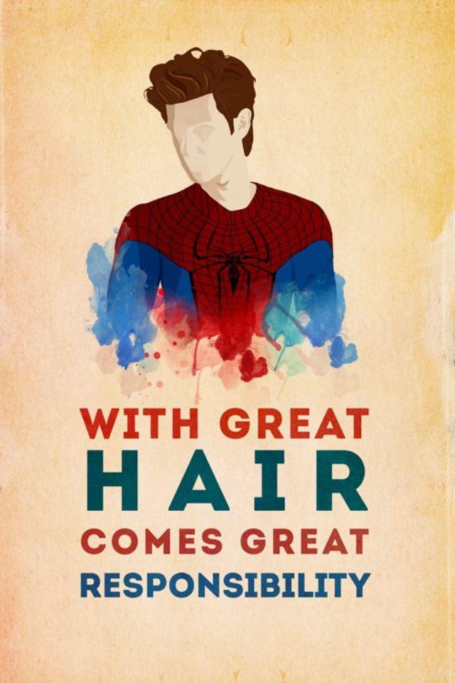 Ha! Andrew Garfield = best spiderman