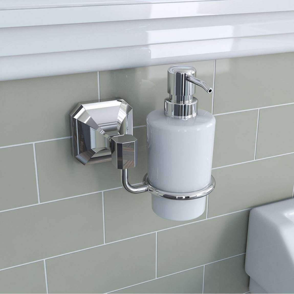 Camberley Ceramic Soap Pump Dispenser Bathrooms