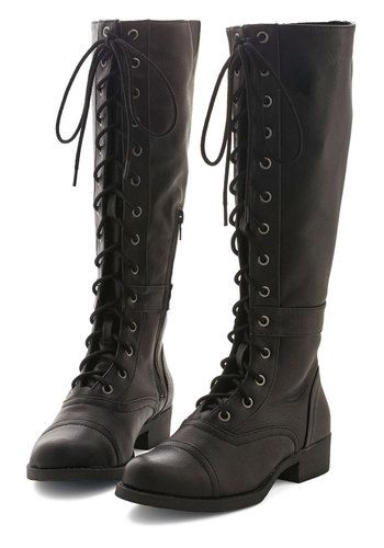 9f095c9c4c7 Steadfast Friends Boot. All it takes is one step in these black vegan  faux-leather boots to instantly know it s the beginning of your most  stylish ...