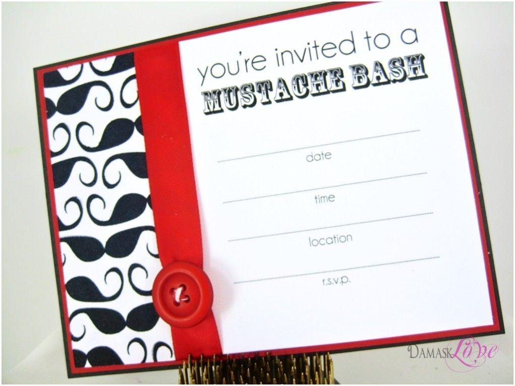 Printable Mustache Invitation Templates | Mustache Party Invitations ...