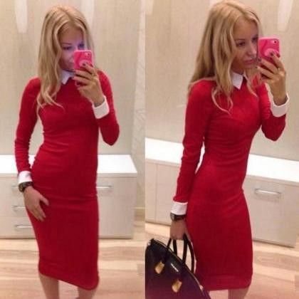 694ff57d9 Hot cute elegant long sleeve dress