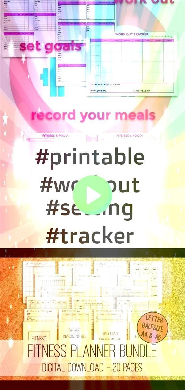 #printable #foodfitne #planner #setting #tracker #workout #fitness #bundle #weekly #health #trendy #...