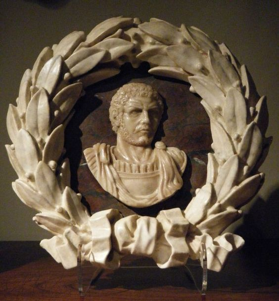 18th century Neo-Classical Marble relief of a Roman Emperor.: