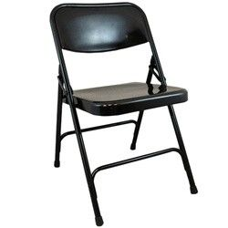 Advantage Black Metal Folding Chair These Commercial Grade Steel
