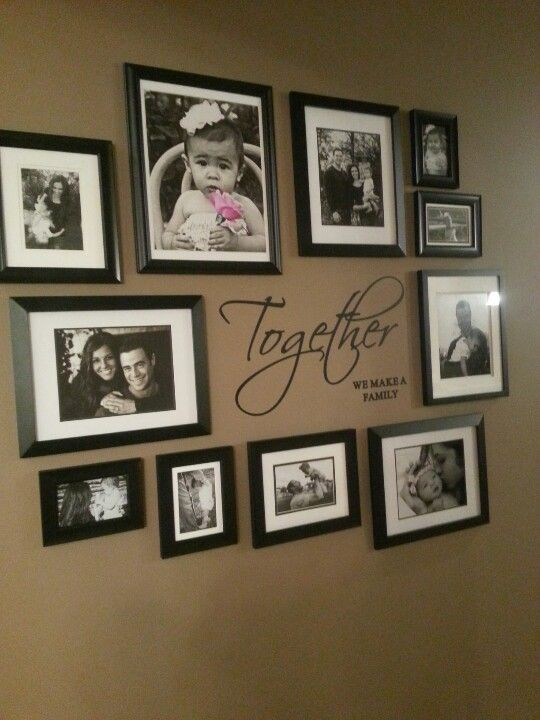 Picture Wall On A Blank Wall In The Living Room House Pinterest Picture Walls Blank
