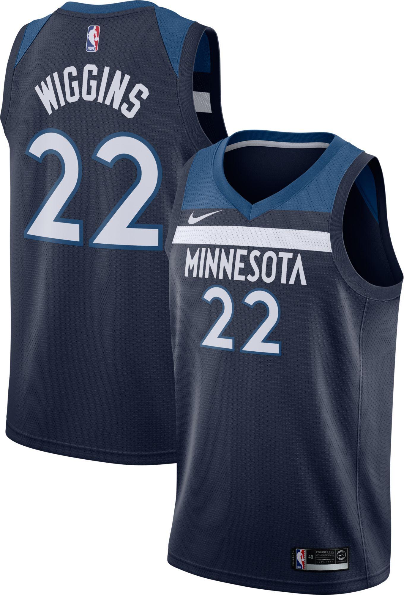 d8e54e4d9 Nike Men s Minnesota Timberwolves Andrew Wiggins  22 Navy Dri-FIT Swingman  Jersey