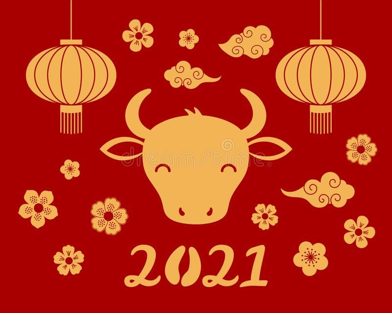 2021 Chinese New Year Ox Illustration 2021 Chinese New Year Vector Illustration Sponsored Adver Chinese New Year Design Flower Typography Dolphin Painting